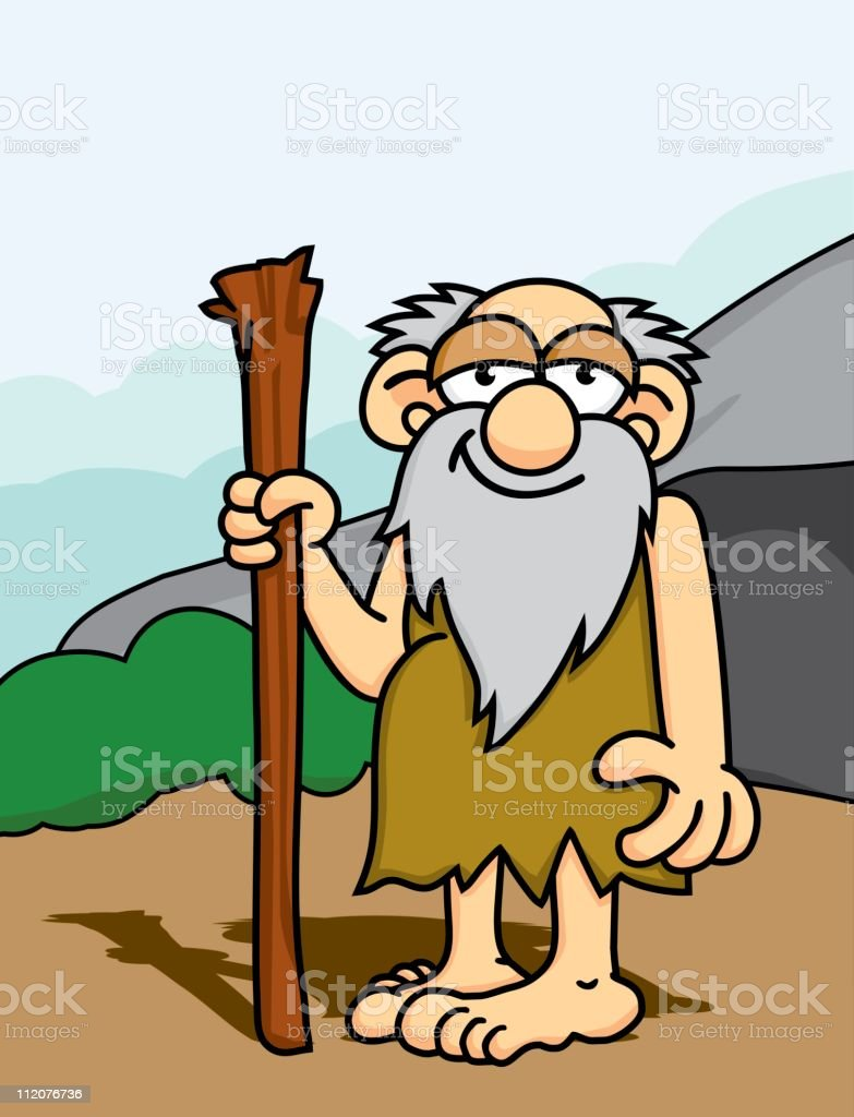 Caveman Elder royalty-free stock vector art