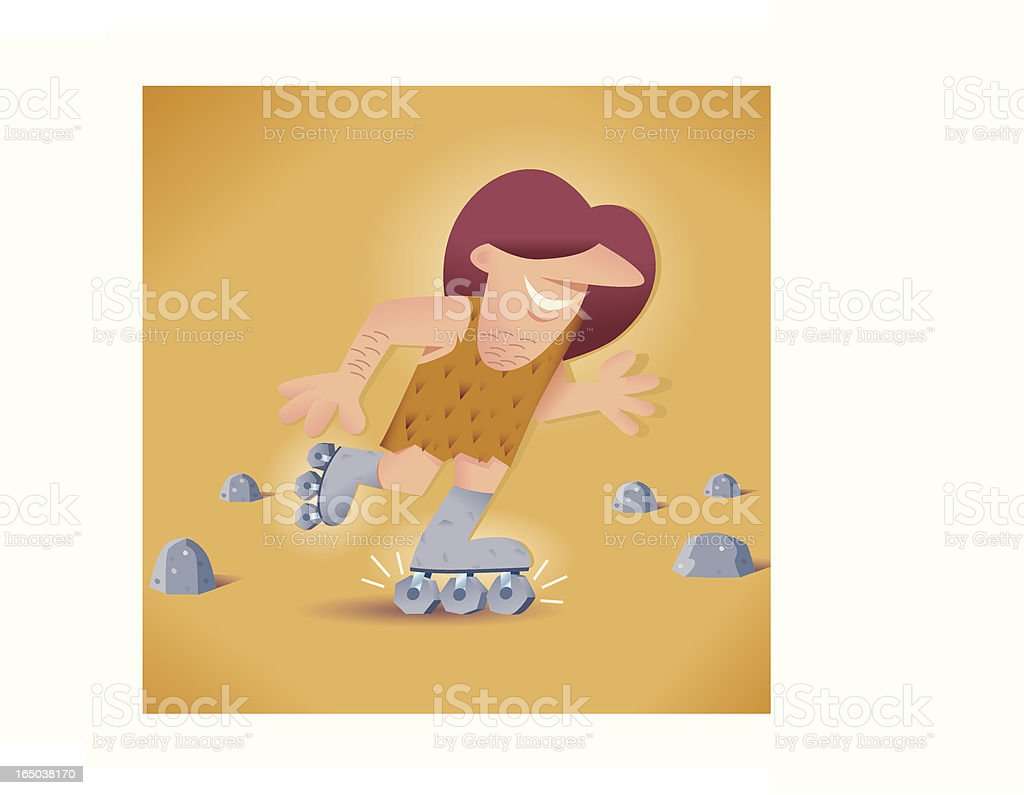 Caveman invention royalty-free stock vector art