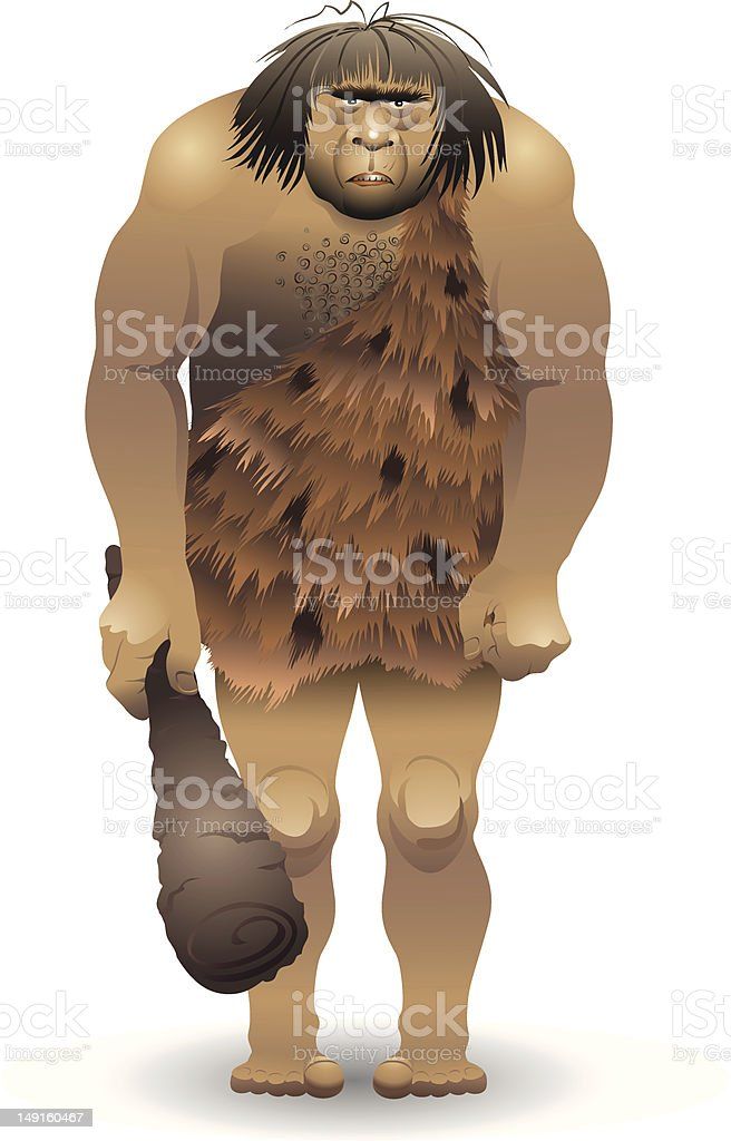 Caveman royalty-free stock vector art
