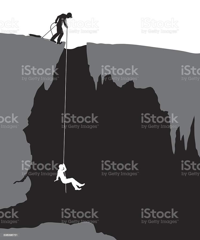 Cavers vector art illustration