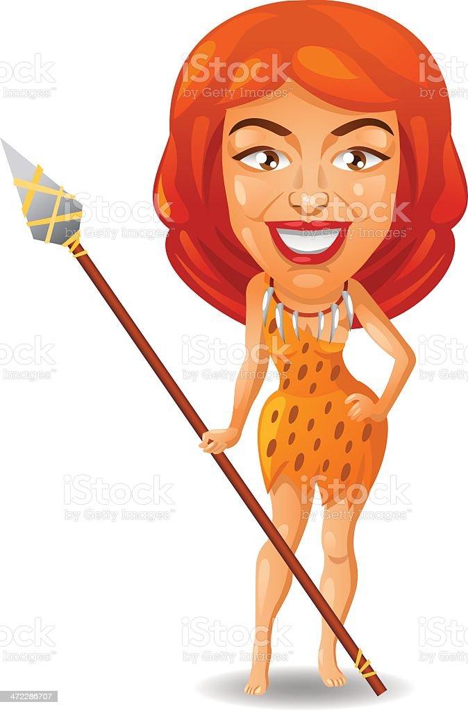 Cavewoman royalty-free stock vector art