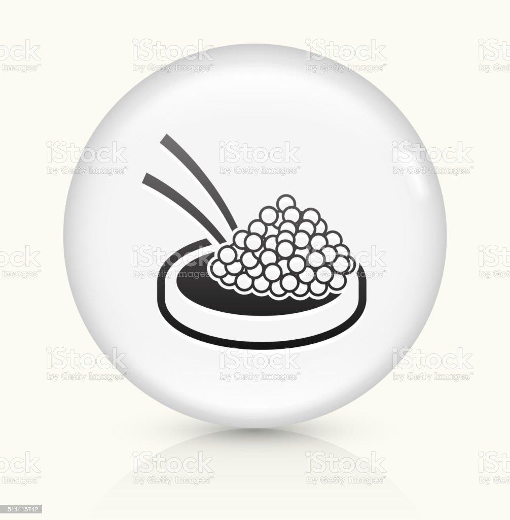Caviar icon on white round vector button vector art illustration