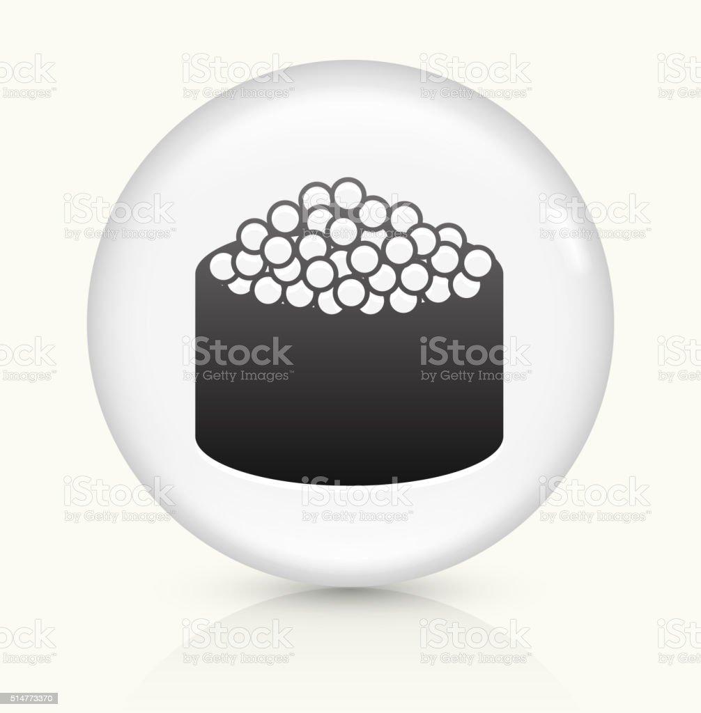 Caviar Sushi Roll icon on white round vector button vector art illustration