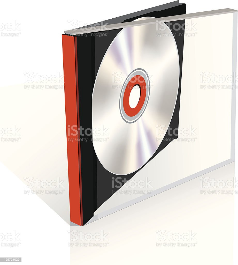 Cd case royalty-free stock vector art