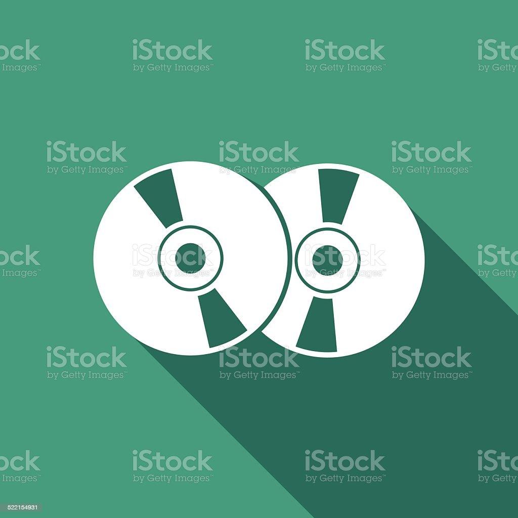 cd icon vector art illustration