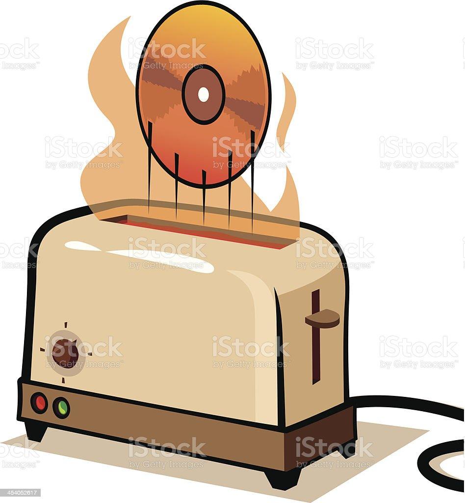 Cd Toaster royalty-free stock vector art