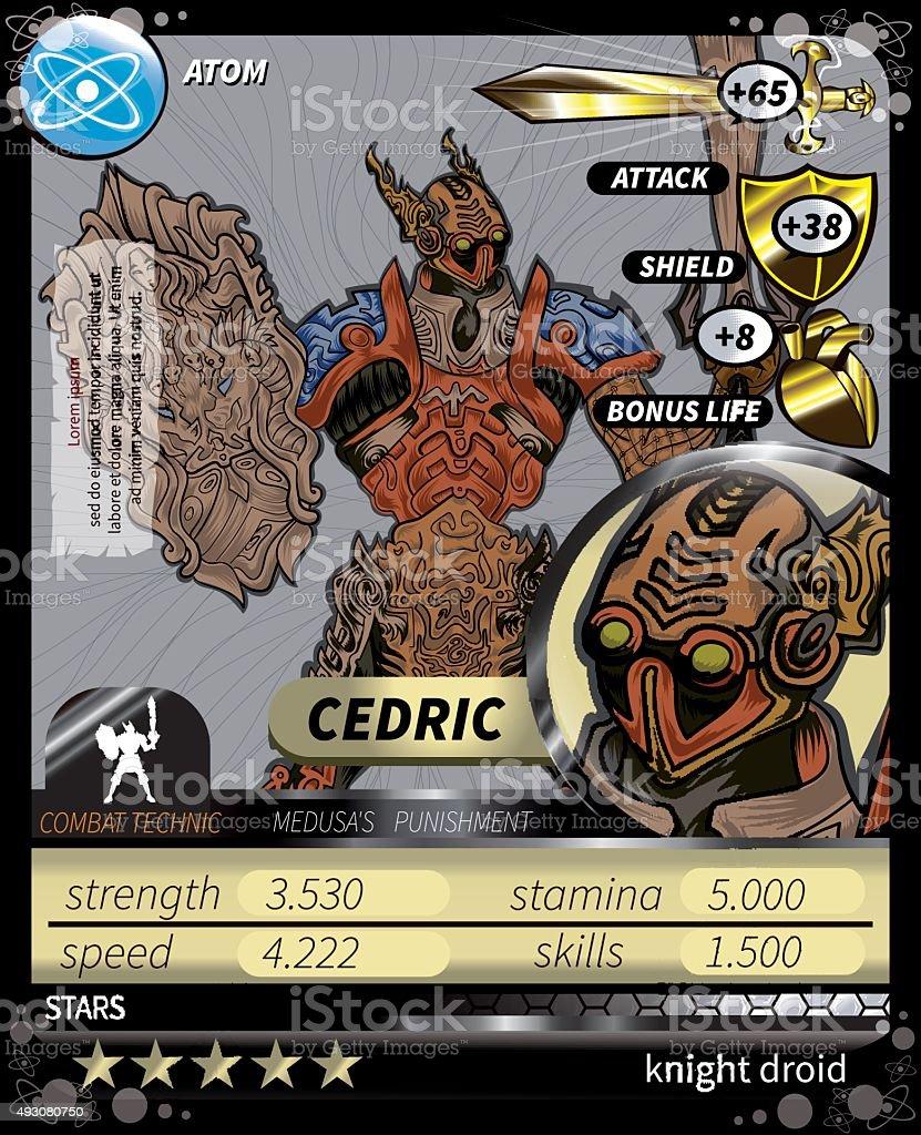 Cedric_Card vector art illustration