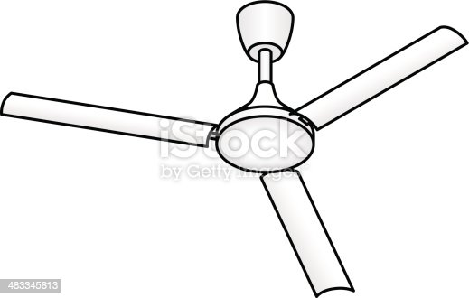 Ceiling Fan Stock Vector Art 483345613 Istock