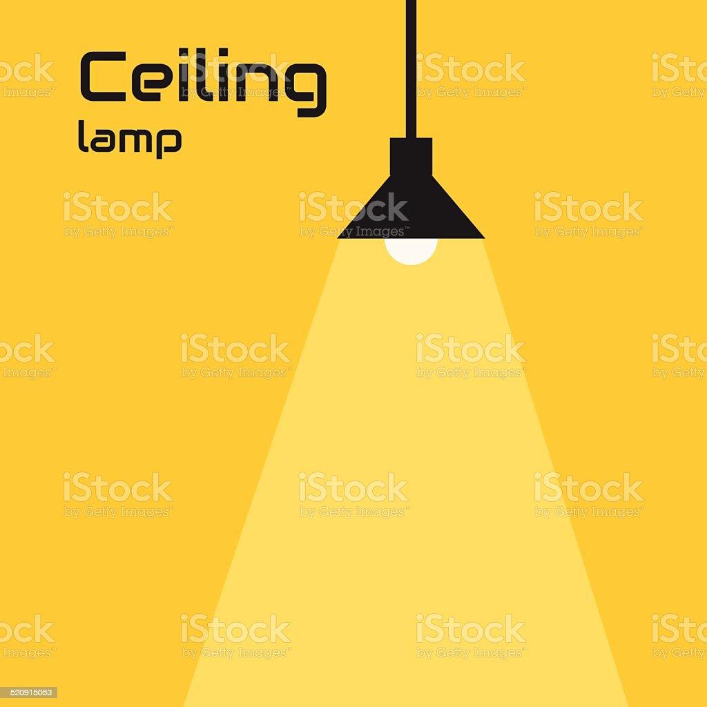 Ceiling lamp vector art illustration