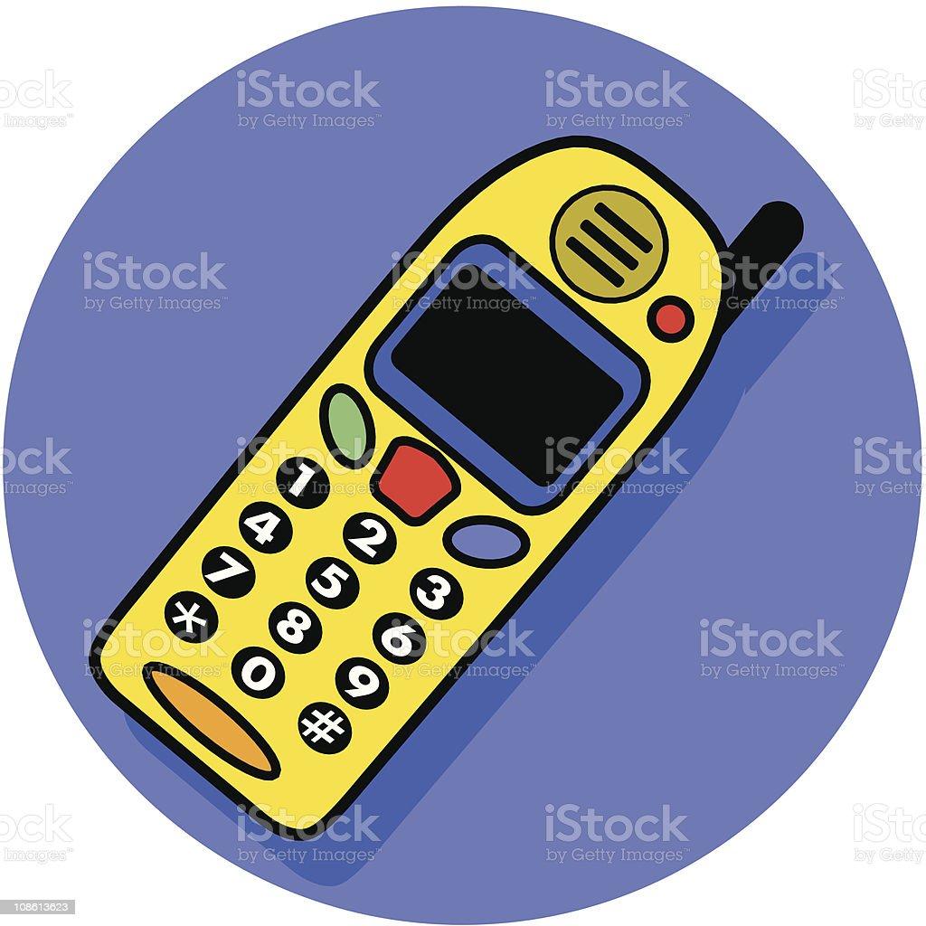cel phone icon royalty-free stock vector art