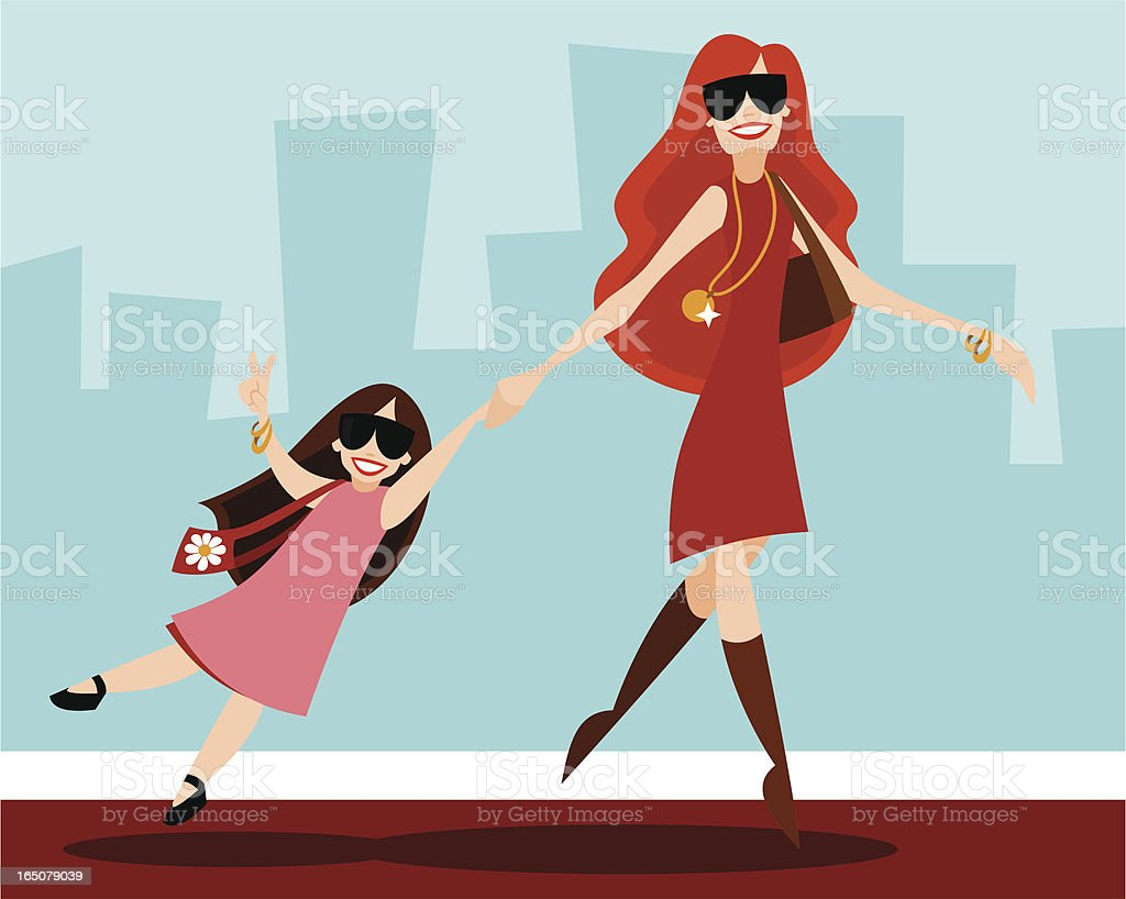 Celeb with Child vector art illustration