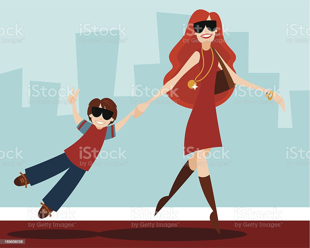 Celeb with Child royalty-free stock vector art