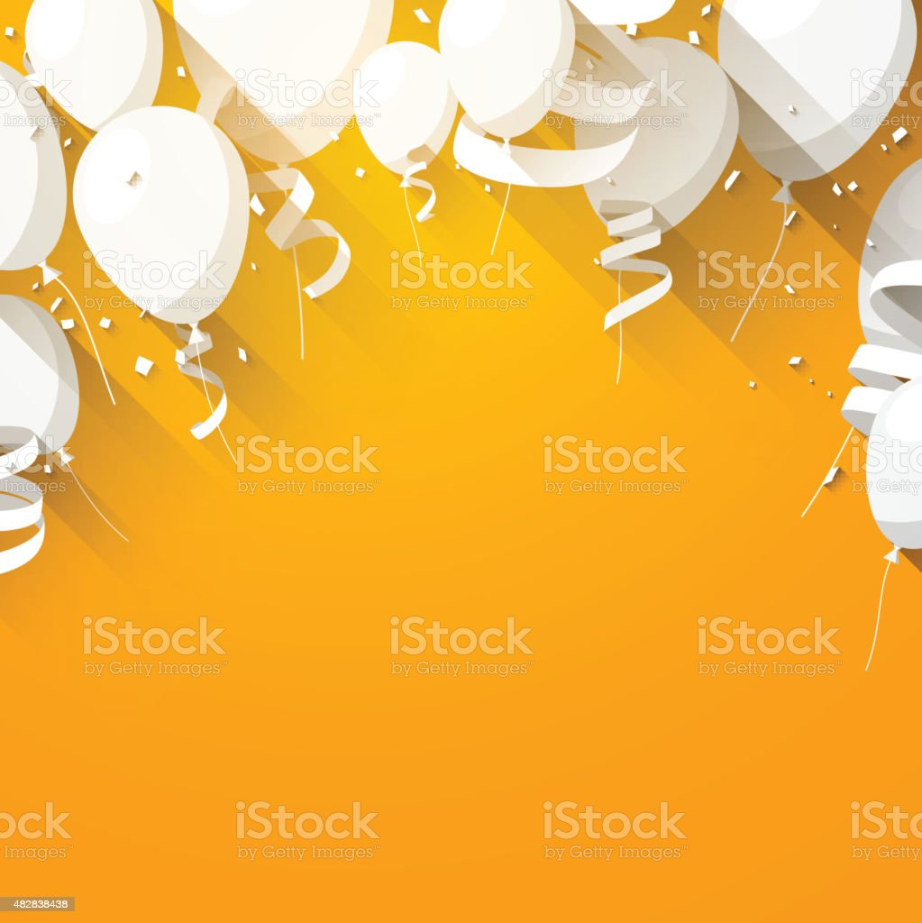 Celebrate background with flat balloons vector art illustration