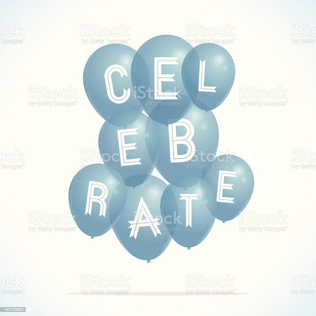 Celebrate balloons royalty-free stock vector art