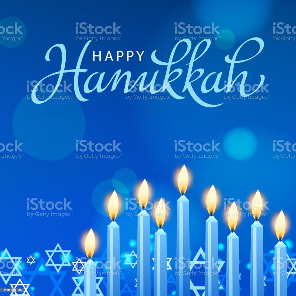 Celebrate Hanukkah vector art illustration