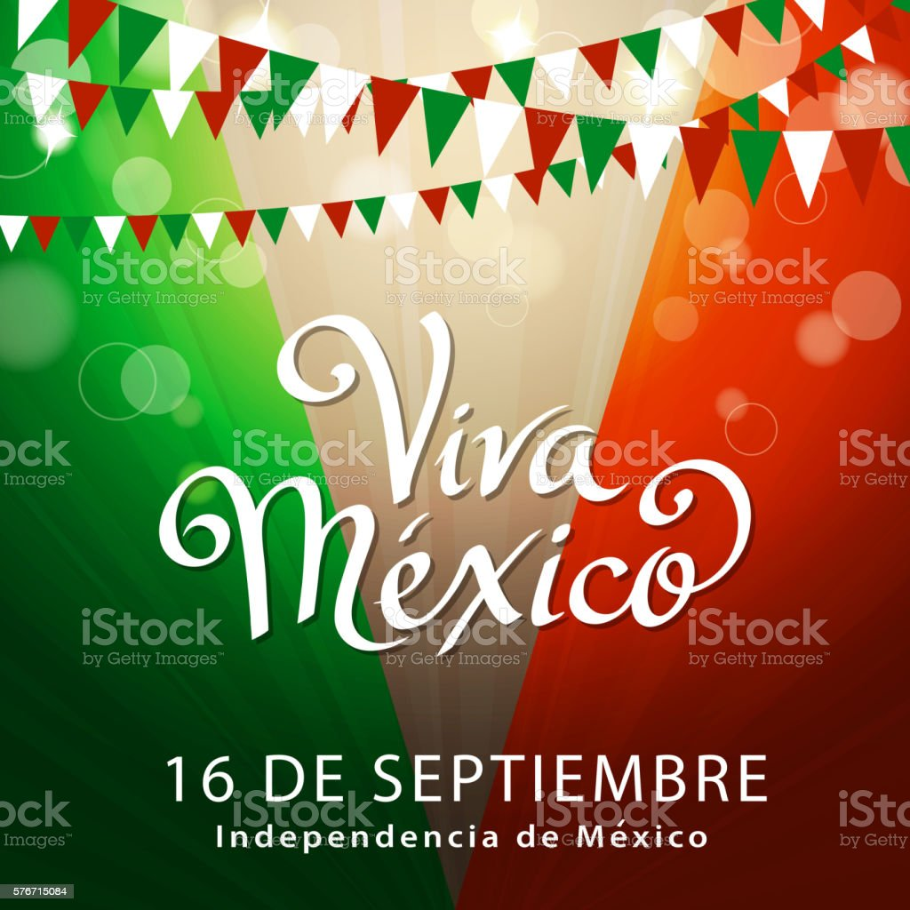 Celebrate Mexican Independence vector art illustration