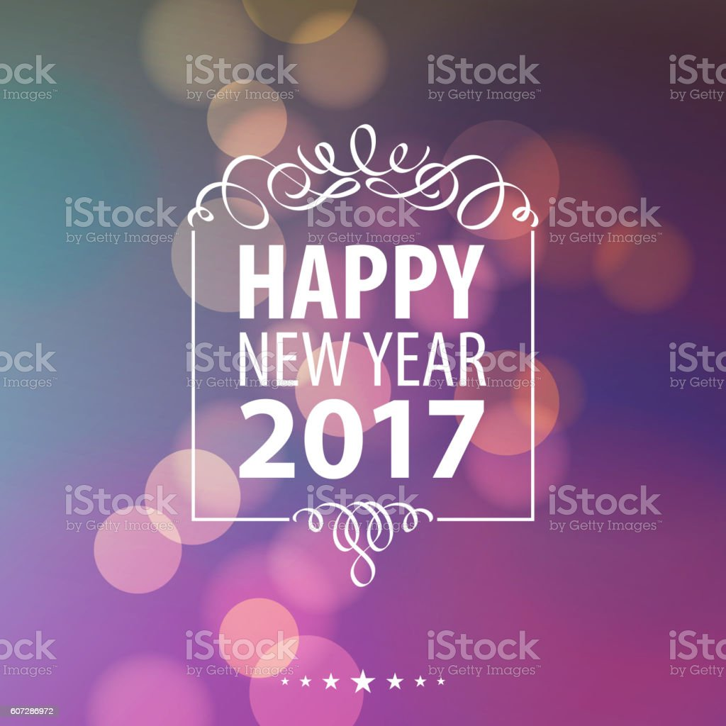 Celebrate New Year 2017 vector art illustration