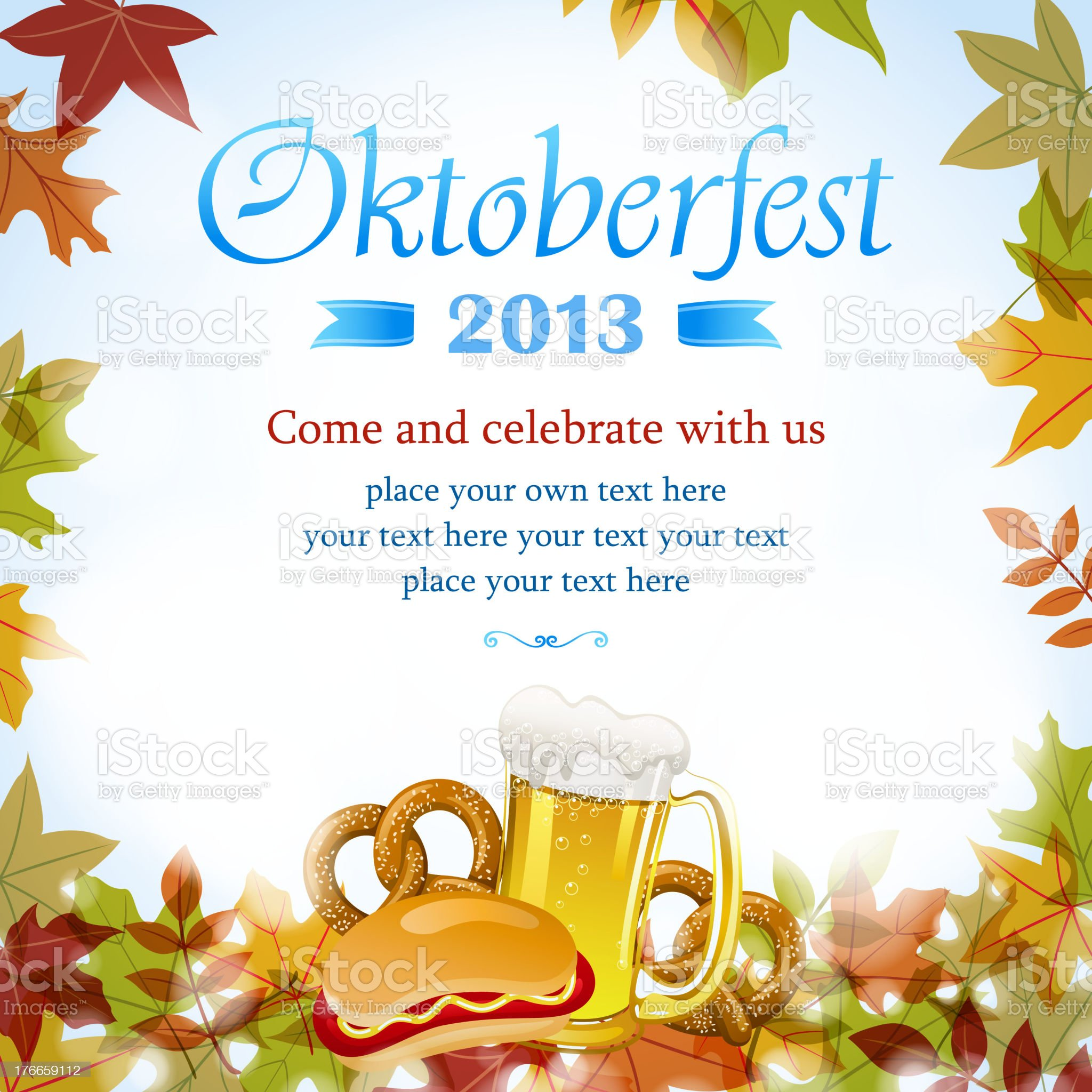Celebrate Oktoberfest royalty-free stock vector art