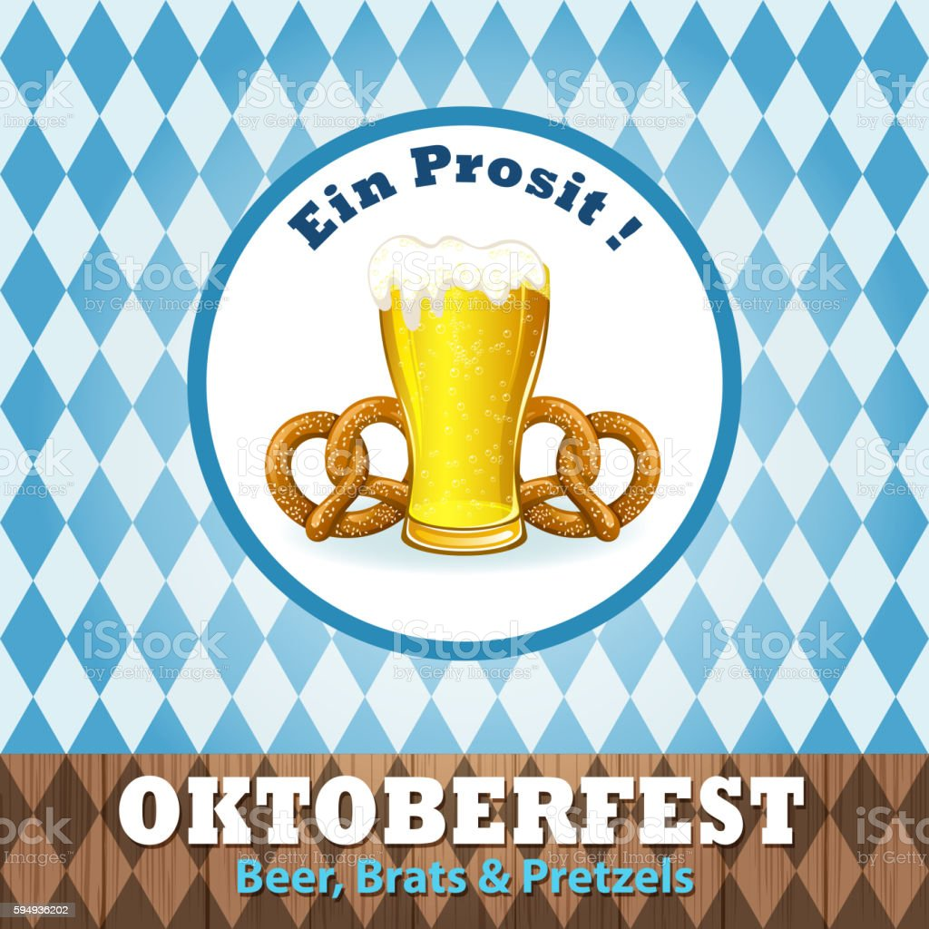 Celebrate Oktoberfest vector art illustration