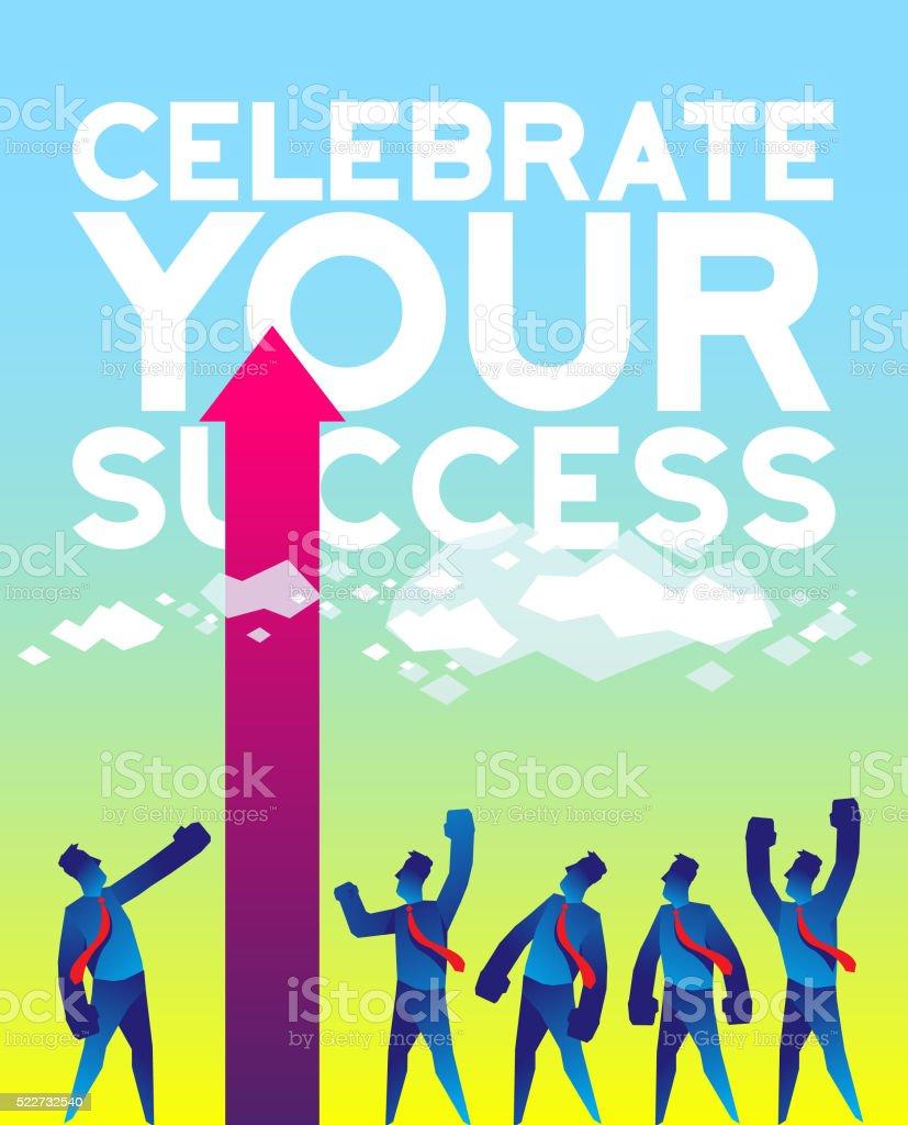 Celebrate the success vector art illustration