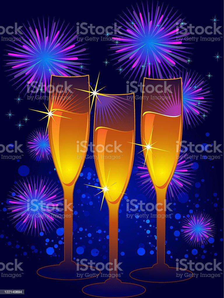 celebrating new year royalty-free stock vector art