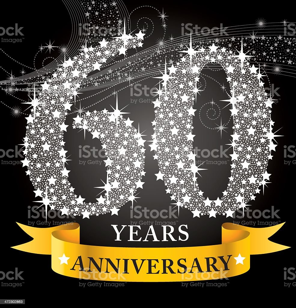 Celebrating their 60th year anniversary  royalty-free stock vector art