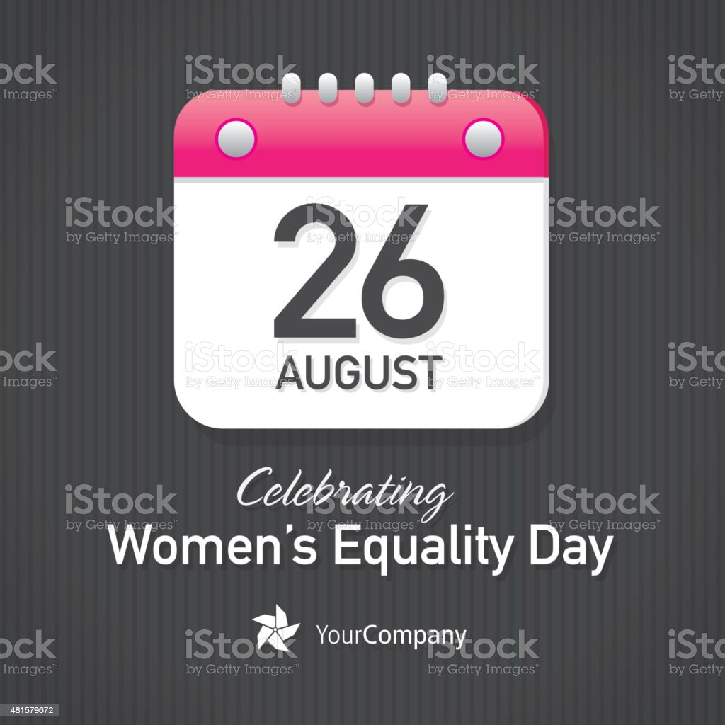 Celebrating Women's Equality Day Calendar design layout template vector art illustration