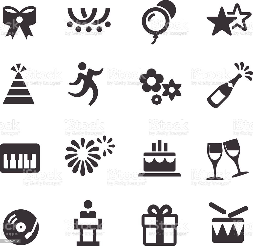 Celebration and Holiday Icons - Acme Series vector art illustration