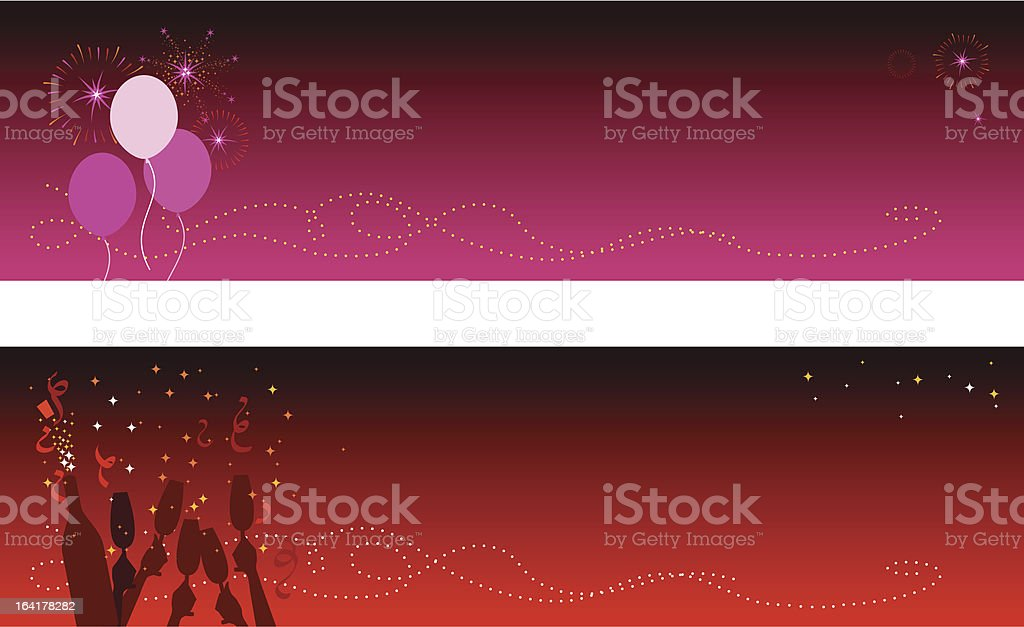 Celebration Banners royalty-free stock vector art