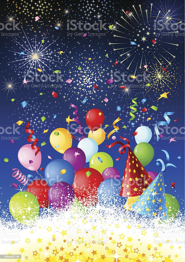 Celebration blast with fireworks royalty-free stock vector art