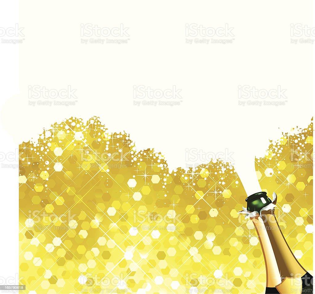 Celebration Champagne Sparkles vector art illustration