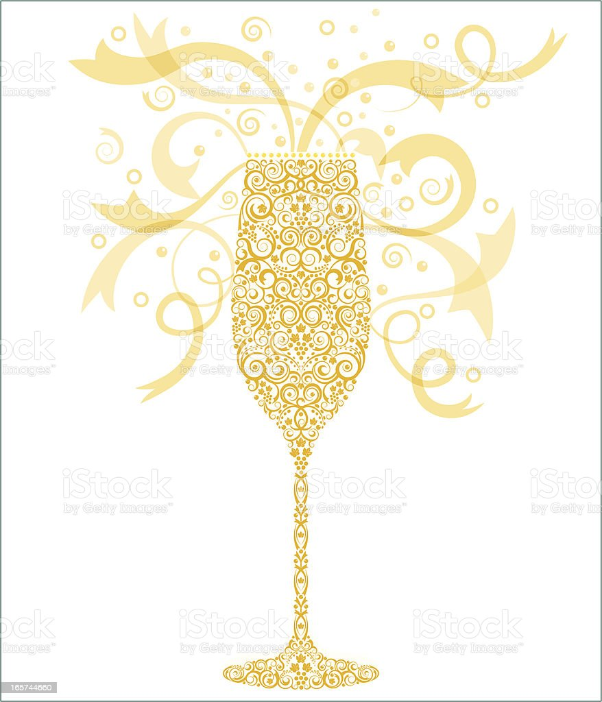 Celebration Champagne vector art illustration