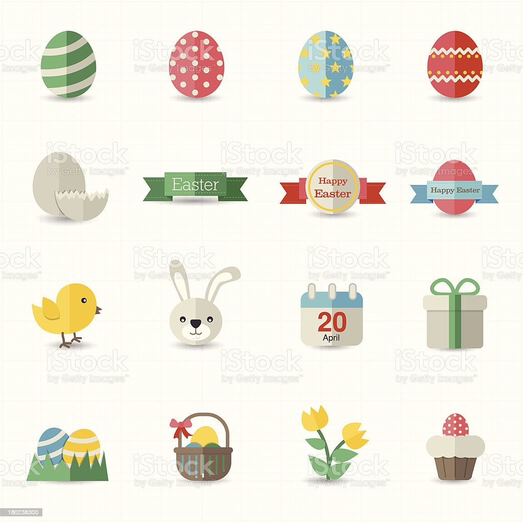 Celebration easter icons royalty-free stock vector art
