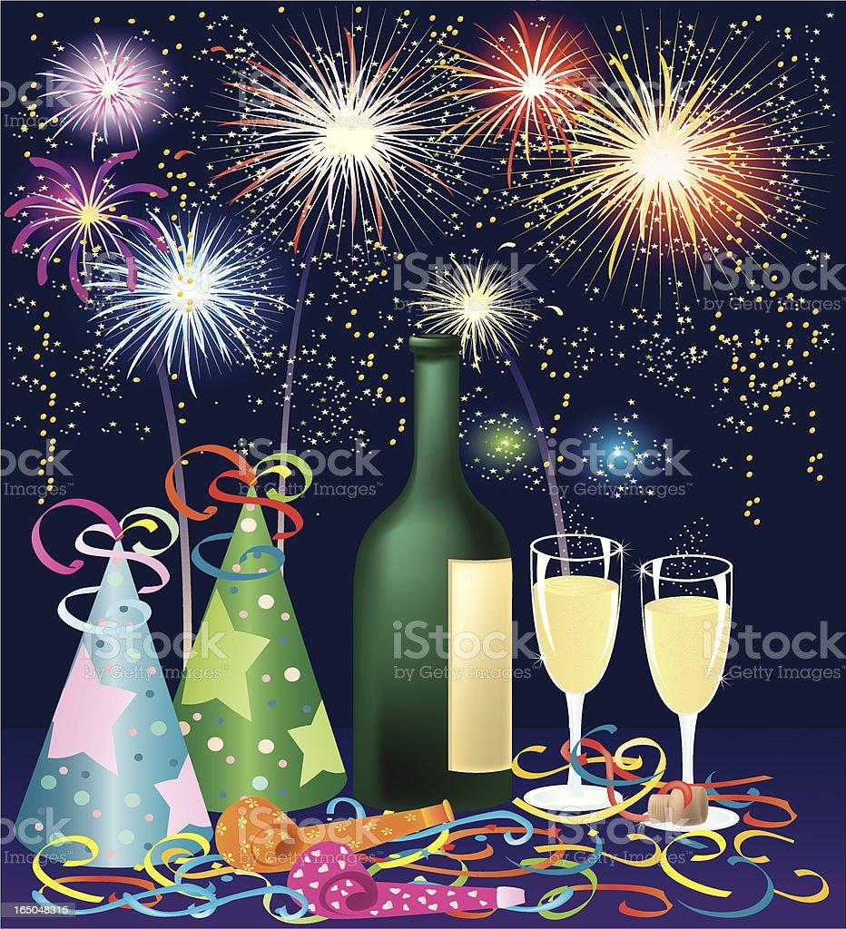 Celebration Fireworks royalty-free stock vector art