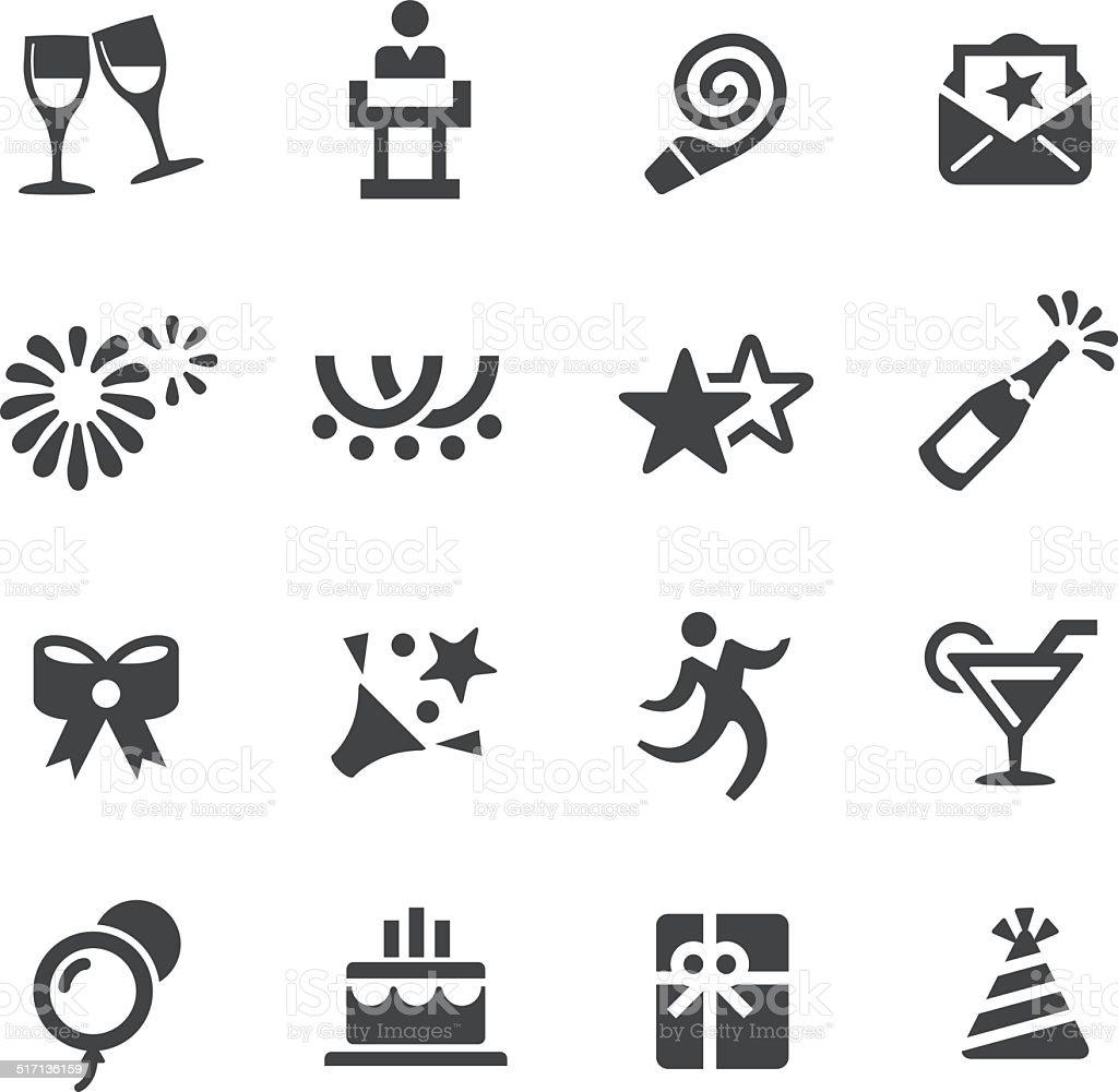 Celebration Icons - Acme Series vector art illustration