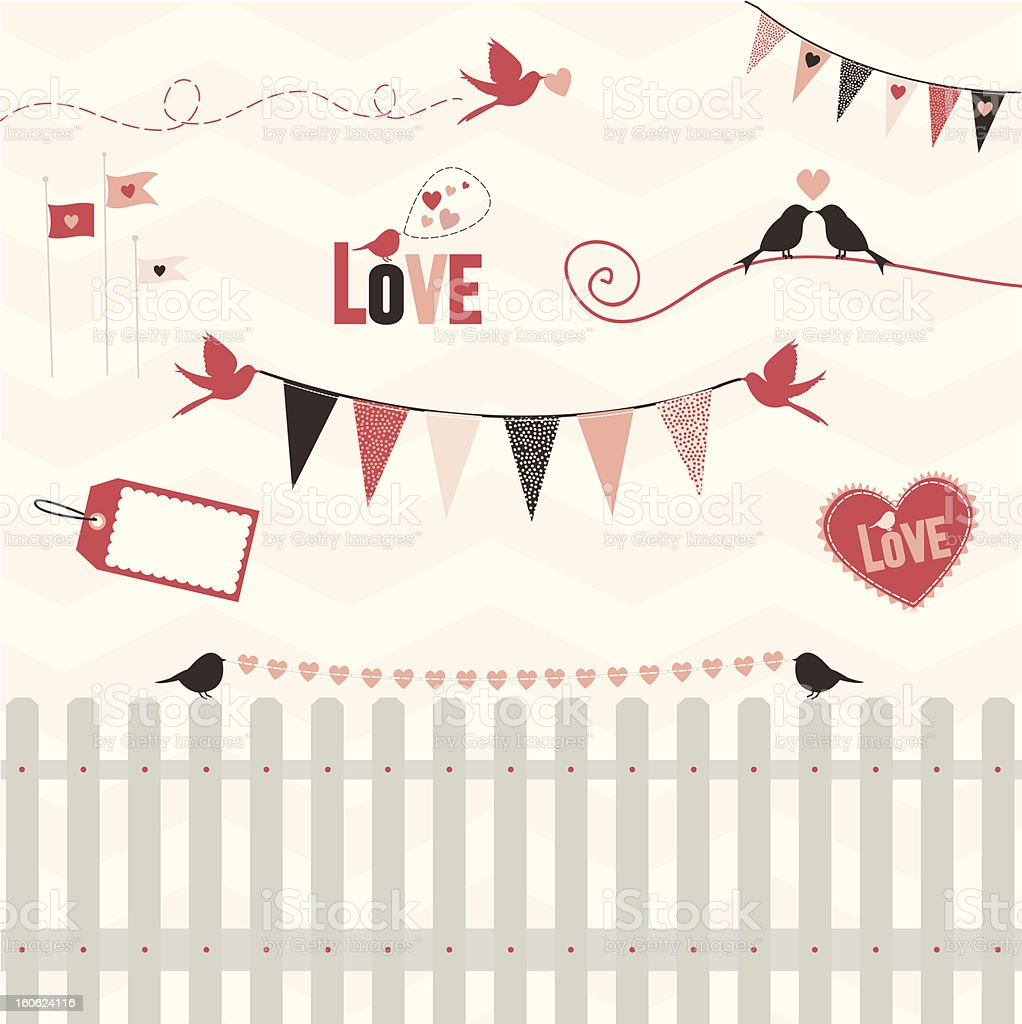 Celebration of Love royalty-free stock vector art