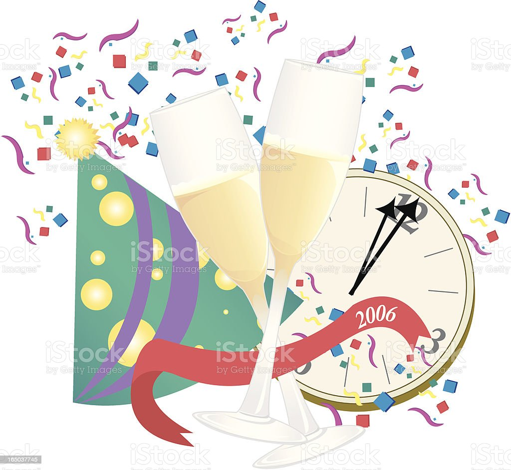 Celebration of the Year! royalty-free stock vector art