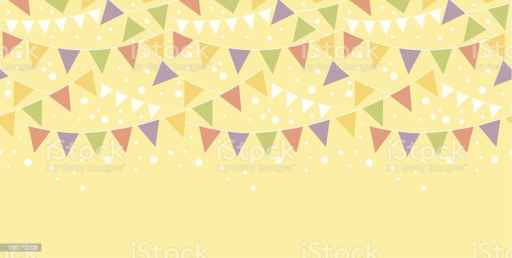 Celebration Pennant Flags Horizontal Seamless Ornament royalty-free stock vector art