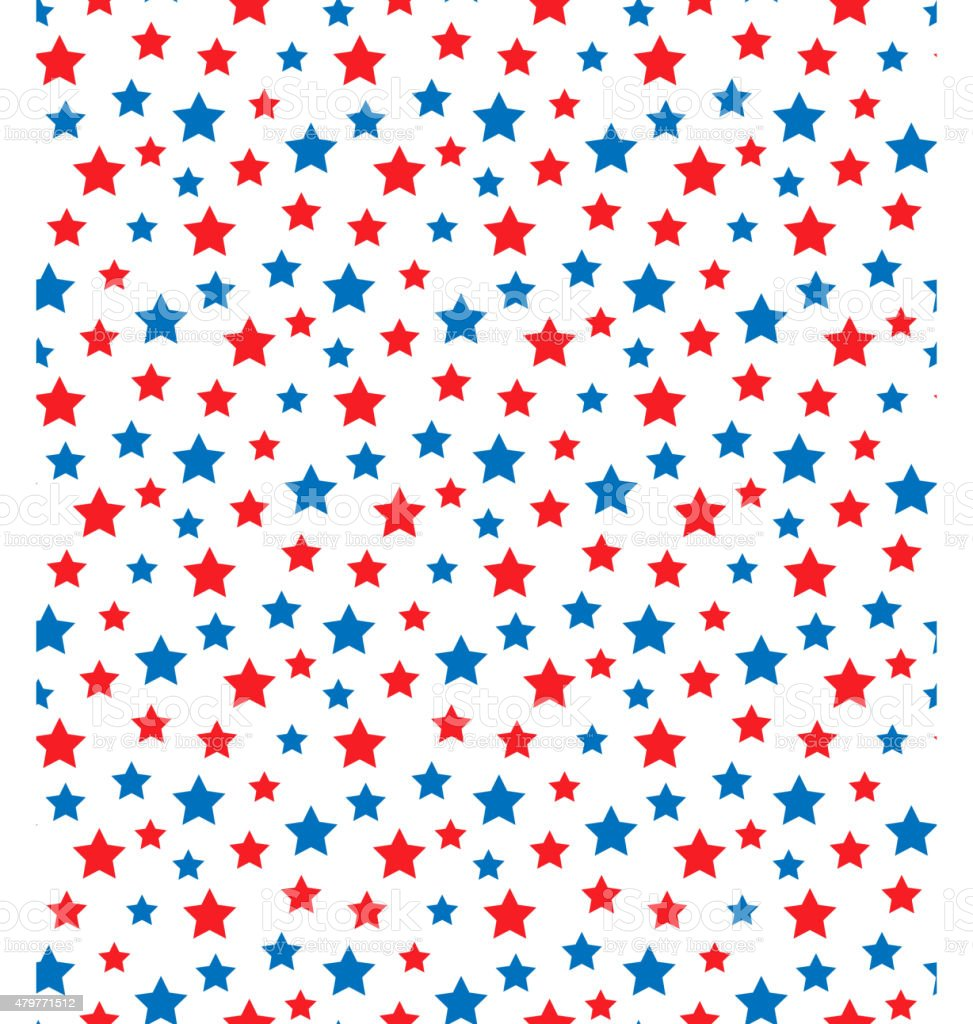 USA celebration seamless with stars in national colors for indep vector art illustration