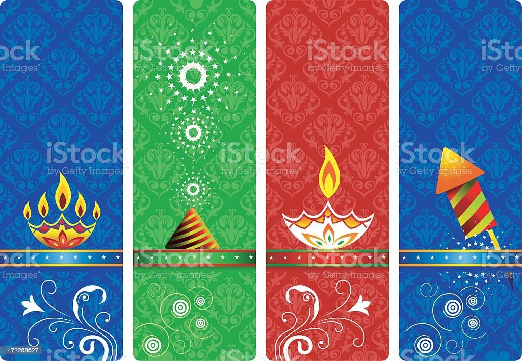 Celebrations and greetings banners vector art illustration