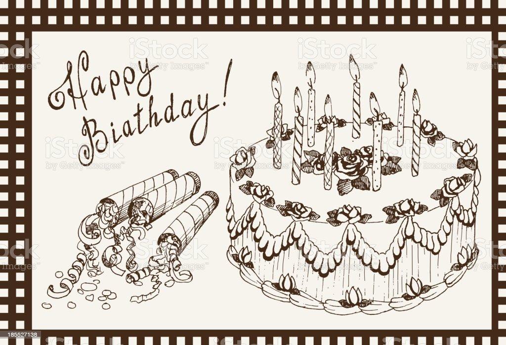 celebratory cake royalty-free stock vector art