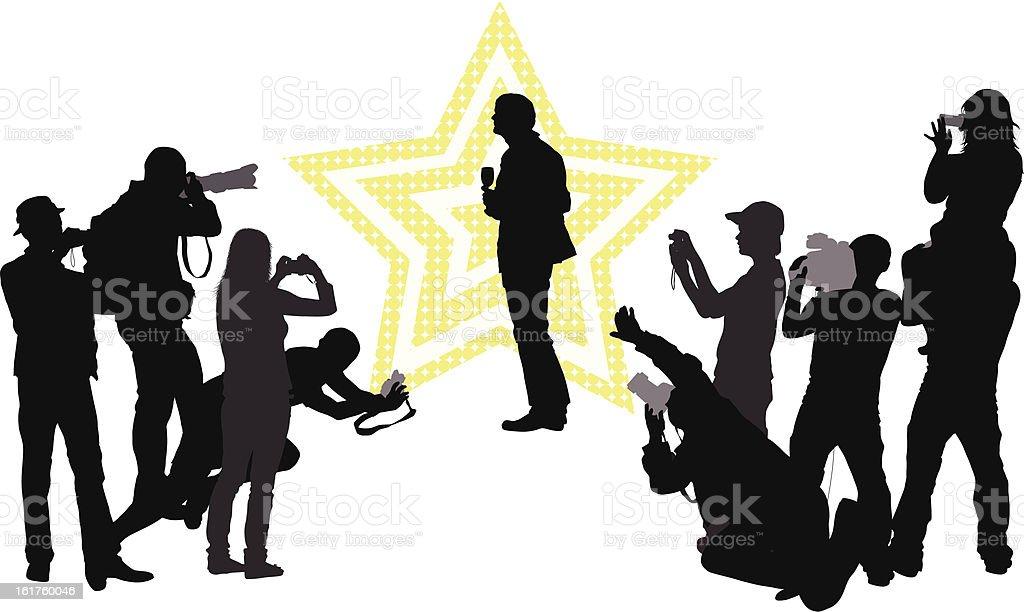 Celebrity vector art illustration