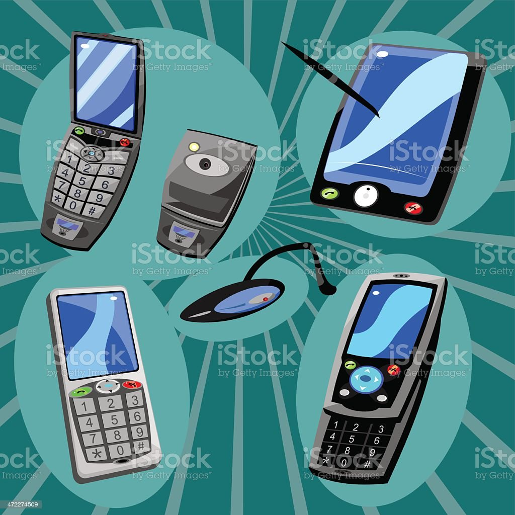 Cell Phone and Mobile Device collection. royalty-free stock vector art