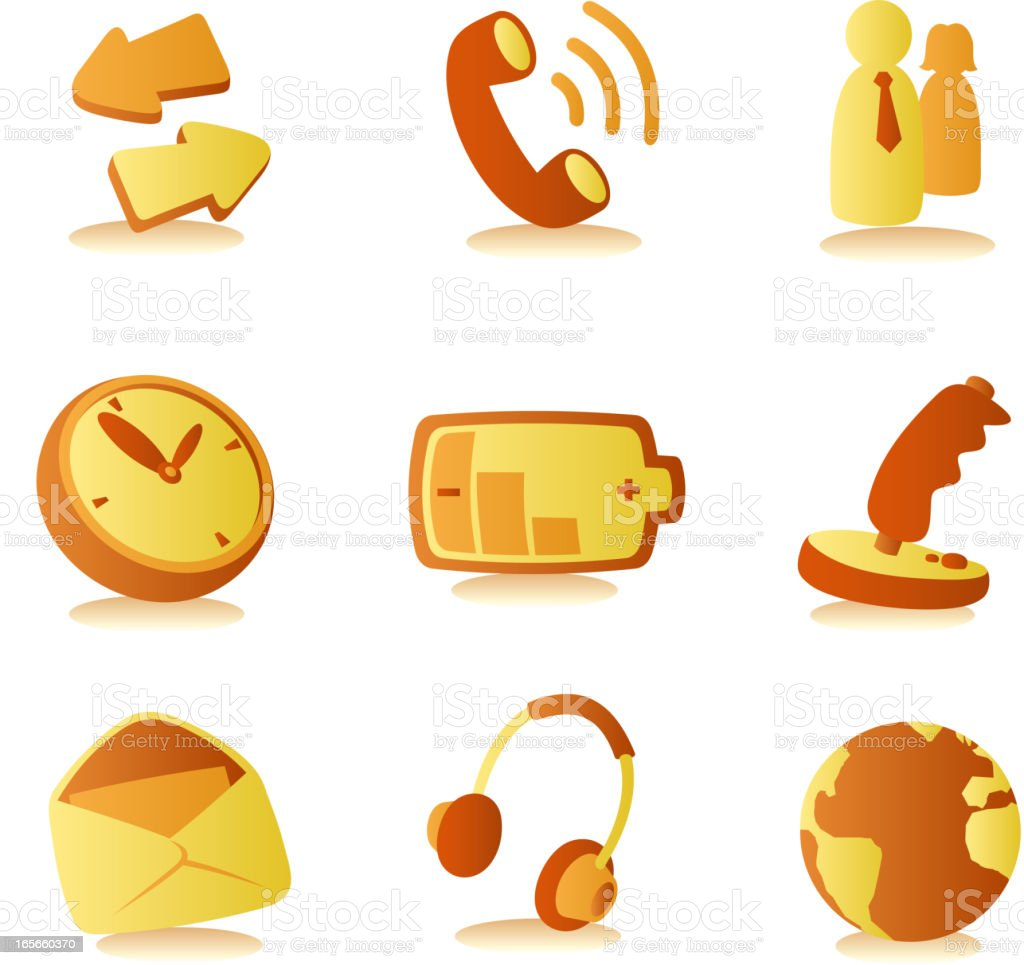 Cell phone cellphone communication icons royalty-free stock vector art