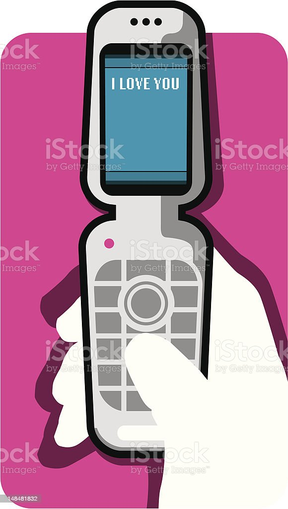 cell phone / I LOVE YOU royalty-free stock vector art