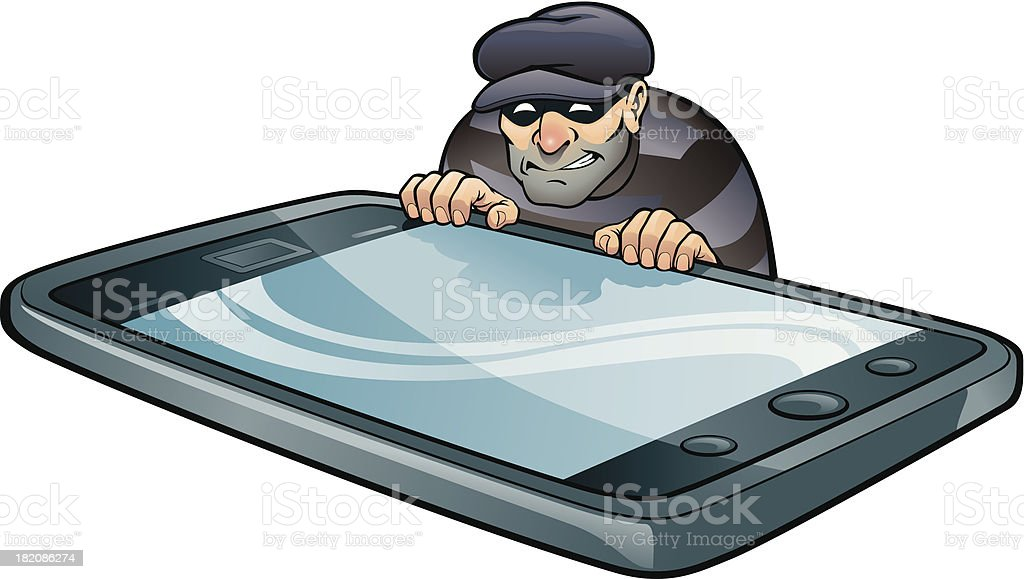 Cell Phone Thief royalty-free stock vector art
