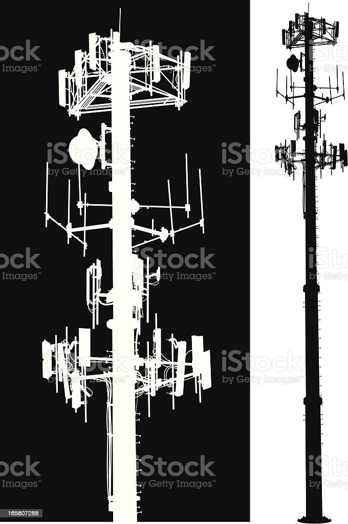Cell Phone Tower - Global Communication vector art illustration