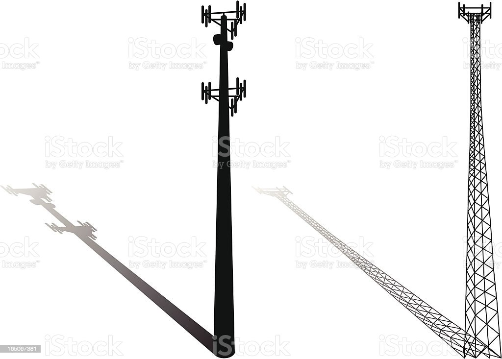 Cell tower vector royalty-free stock vector art