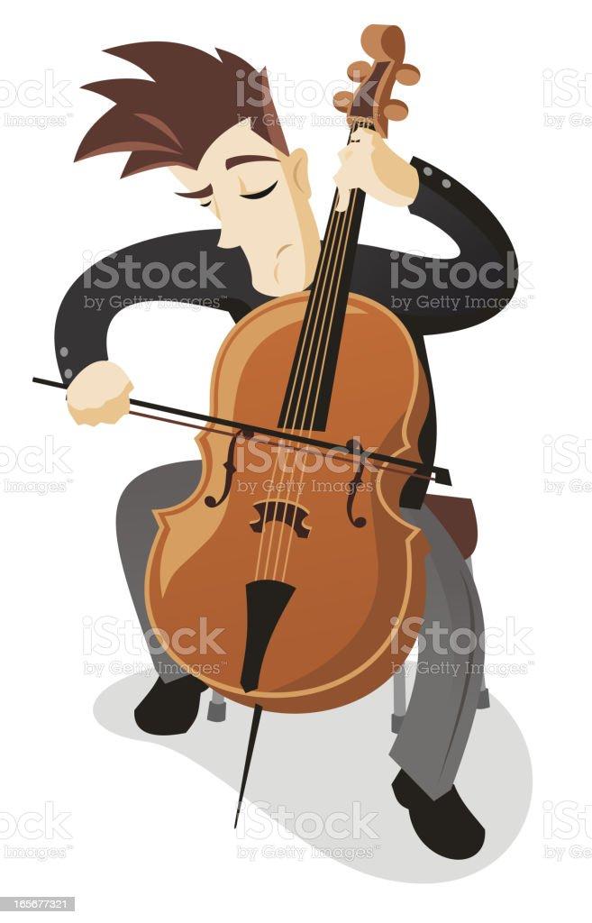 Cellist vector art illustration