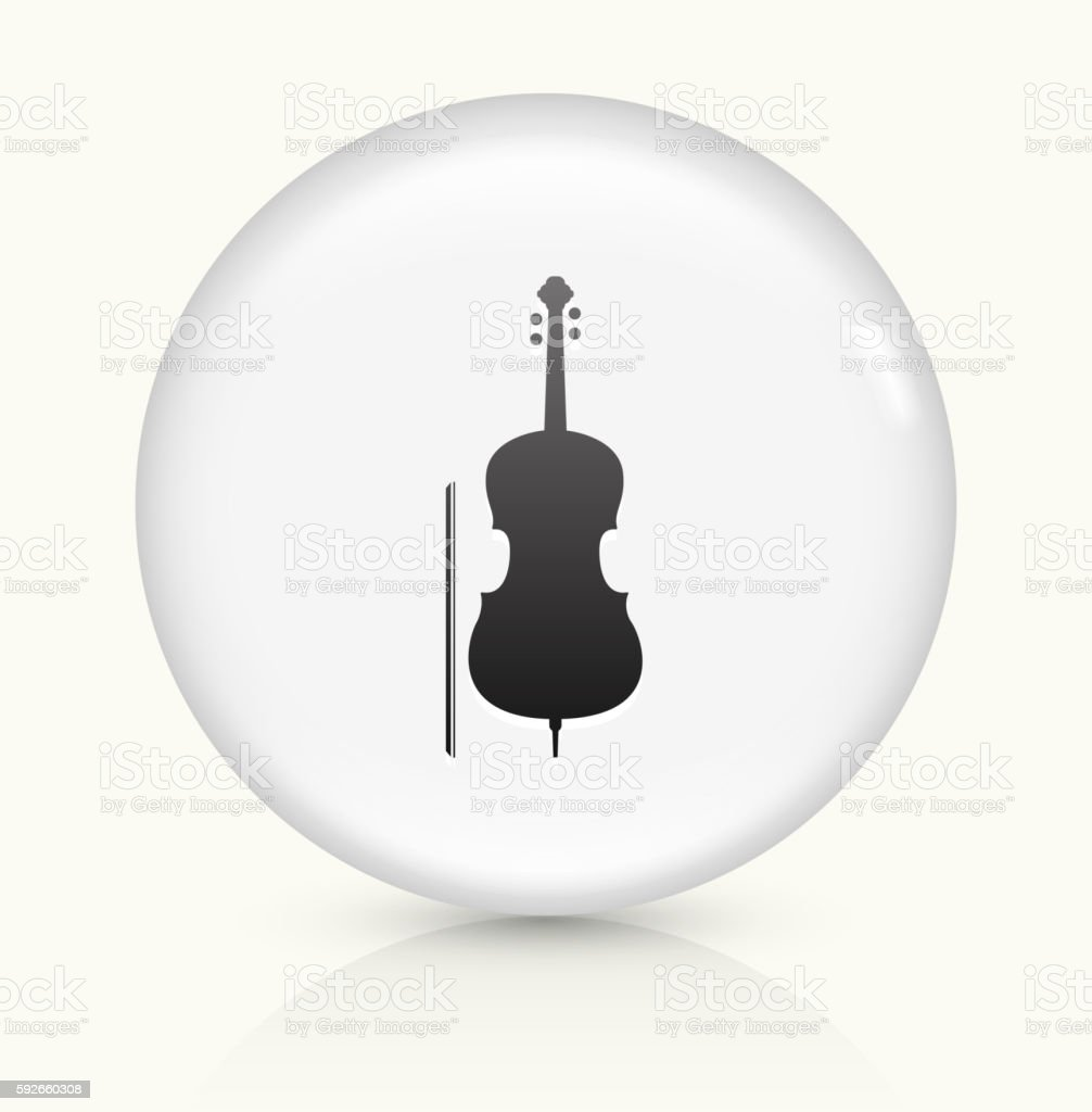 Cello icon on white round vector button vector art illustration
